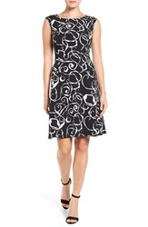 Anne Klein Women's Mercury Crepe Fit And Flare Dress