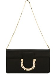 Salvatore Ferragamo 'Thalia' Clutch Black