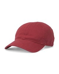 Lacoste Red Crocodile Side Logo Cotton Cap