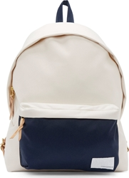 Nanamica Ivory And Navy Canvas Day Pack Backpack