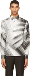 Christopher Kane Grey Page Print Shirt