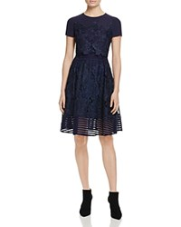 Ted Baker Limie Lace Overlay Dress 100 Bloomingdale's Exclusive Dark Blue