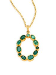 Gurhan Amulet Hue Emerald And 24K Yellow Gold Pendant Necklace Gold Emerald
