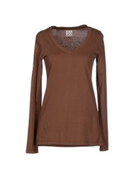 Douuod T Shirts Brown