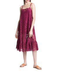 Plenty By Tracy Reese Floral Lace Dress Fig