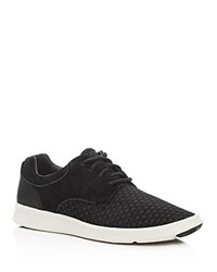 Ugg Hepner Woven Lace Up Sneakers Black