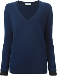 Paul By Paul Smith V Neck Sweater Blue