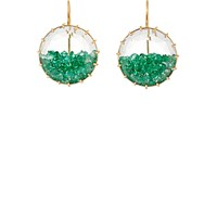 Renee Lewis Women's Emerald Shake Drop Earrings No Color