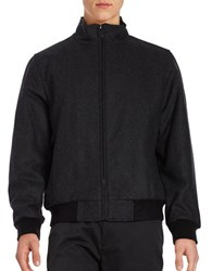 Calvin Klein Wool Blend Short Coat Charcoal