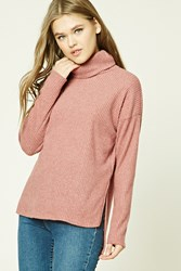 Forever 21 Brushed Knit Turtleneck Sweater