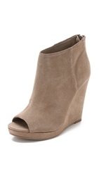 Dolce Vita Demy Suede Wedge Booties Taupe