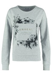 Evenandodd Sweatshirt Light Grey Melange Mottled Light Grey