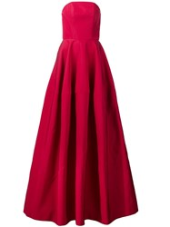 Christian Siriano Strapless Flared Gown