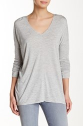Lilla P Warm Double V Neck Tee Gray