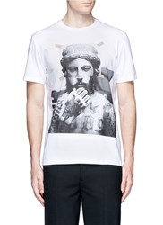 Neil Barrett Tattoo Sculpture Print T Shirt White