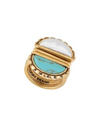 Lucky Brand Turquoise Natives Calcite And Rock Crystal Stack Ring