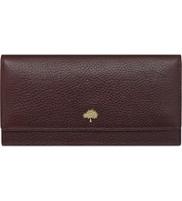 Mulberry Natural Leather Continental Wallet Oxblood