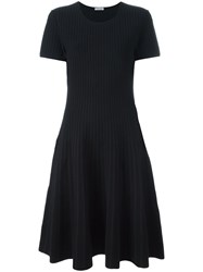 Tomas Maier Striped Faded Effect Dress Blue