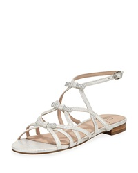 Adrianna Papell Lane Bow Flat Sandal Silver