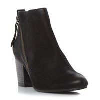 Steve Madden Jaydun Side Zip Ankle Boots Black