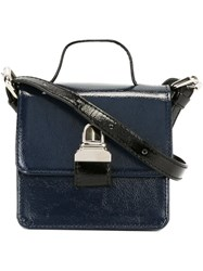 Maison Martin Margiela Mm6 Mini Satchel Bag Blue