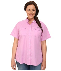 Columbia Plus Size Bonehead Ii S S Shirt Orchid Women's Short Sleeve Button Up Purple