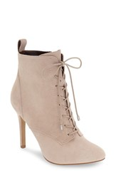Bcbgeneration Women's 'Banx' Lace Up Bootie Pumice Suede