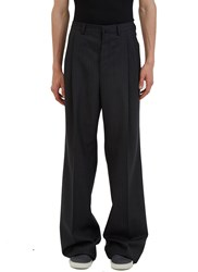 Lanvin Oversized Wide Leg Pinstripe Pants Grey