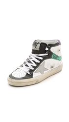 Golden Goose 2.12 High Top Sneakers White Green Black