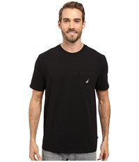 Nautica Short Sleeve Solid Anchor Pocket Tee True Black Men's T Shirt