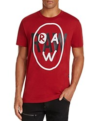 G Star Raw Bekise Logo Graphic Tee Dry Red