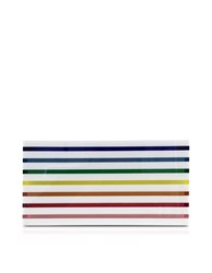 Mary Katrantzou Rainbow Stripe Large Box Clutch Multicolor