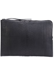 Rick Owens Large Clutch Black