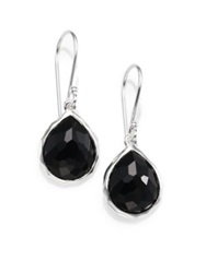 Ippolita Rock Candy Black Onyx And Sterling Silver Teeny Teardrop Earrings Silver Black