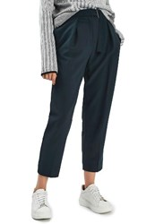 Topshop Women's Slider Utility Peg Trousers Navy Blue