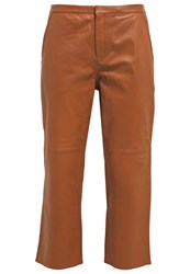Part Two Critta Leather Trousers Brown Cognac