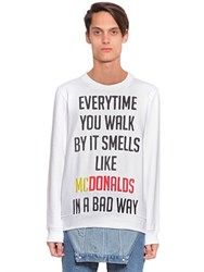 House Of Holland Everytime Embroidered Cotton Sweatshirt