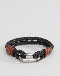 Polo Ralph Lauren Black Leather Bracelet Black Brown