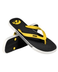 Forever Collectibles Iowa Hawkeyes Thong Sandals Black Gold