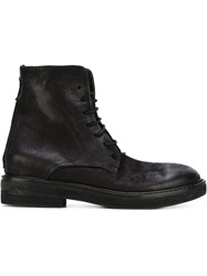 Marsell Marsell Distressed Combat Boots Black