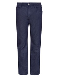 Raf Simons Low Rise Straight Leg Jeans Navy
