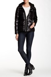 Vince Camuto Short Hooded Down Jacket Black