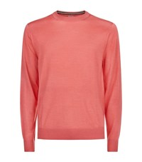 Paul Smith London Merino Wool And Silk Jumper Male Coral