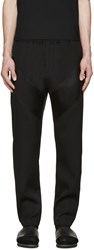 Givenchy Black Satin Panel Trousers