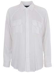 French Connection Slub Shirt Summer White