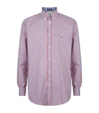 Paul And Shark Gingham Shirt Male Red