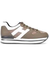 Hogan Platform Sneakers Brown