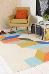 Assembly Home Complex Colorblock Handmade Rug Urban Outfitters