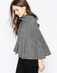 Wal G Knitted Cape Grey
