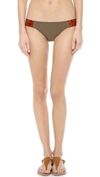 Karla Colletto Tortoise Bikini Bottom Army